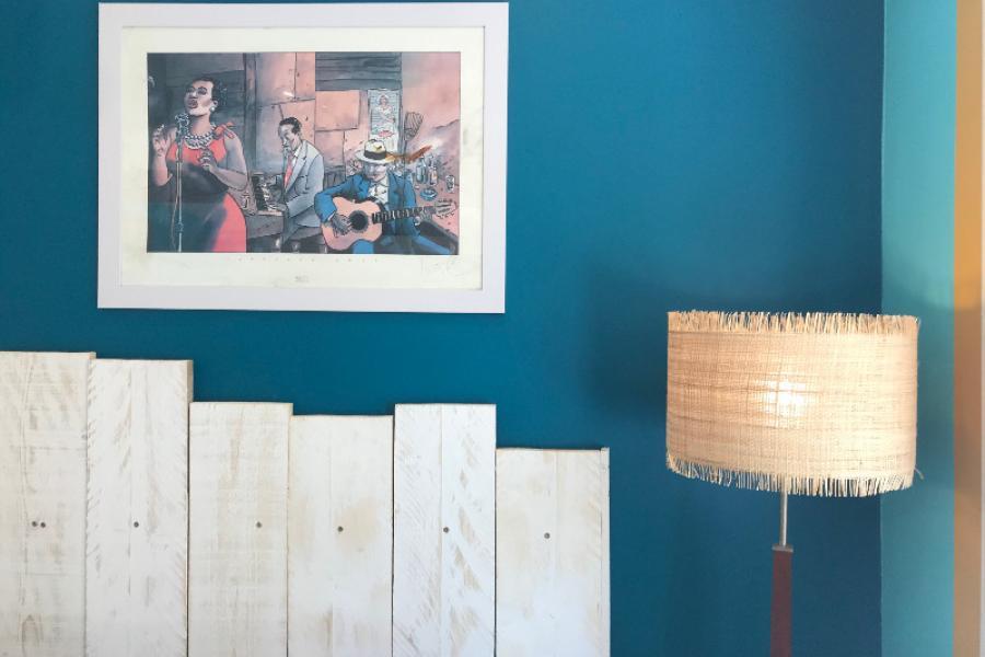 Transformation d'un studio exterieur en pool house ambiance bar Cubain